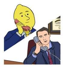 Lemon Larry calling Attorney